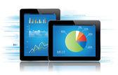 Tablet Statistics — Stock Vector