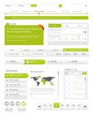 пакет навигации веб-сайта — Cтоковый вектор