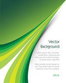Green Background Brochure — Stock Vector