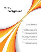 Orange Brochure Background — Stock Vector