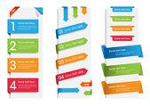 Färgglada web klistermärken, märken och etiketter — Stockvektor