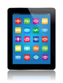 Tablet apps — Stockvektor