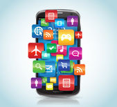 SmartPhone Apps — Stock Vector