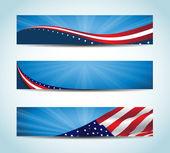 American Banner — Stock Vector