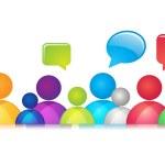 Social Communication — Stock Vector