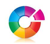 Colorful Wheel — Stock Vector