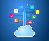Cloud Apps — Stock Vector