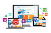 Responsive Design Apps — Stock Vector