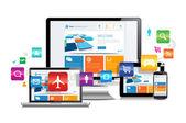 Responsive Design Apps — Stock Vector