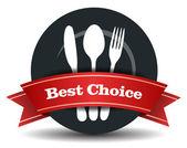 Restaurant Food Quality Badge — Stock Vector