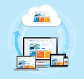 Cloud Computing Experience — Stock Vector