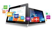 Vector Tablet App — Stock Vector