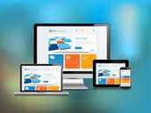 Responsive Design Blur Background — Stock Vector