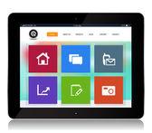 Tablet Internet Website — Stock Vector