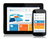 Smartphone Tablet Internet — Stock Vector
