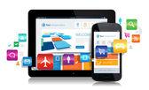 Smartphone Tablet Apps — Stock Vector