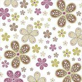 Patrón sin costuras floral vector — Vector de stock