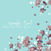 Vector floral background with place for text — Stock Vector