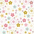 Vector floral seamless pattern — Stock Vector