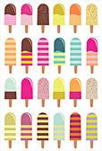 Ice cream background — Stock Vector