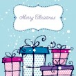 Christmas hand drawn gift boxes - Image vectorielle