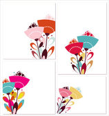 Set of templates with flowers — Stock Vector