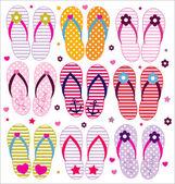 Coleção de flip-flops de vetor — Vetorial Stock