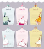 Muffin tags collection — Stock Vector