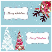 Christmas greeting cards — Stock Vector
