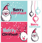 Christmas greeting cards — Vector de stock