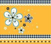Beautiful floral vintage wallpaper — Stock Vector