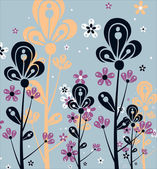 Beautiful floral vintage wallpaper — Stock Vector