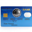 3d illustration: Credit card and combination lock. Protecting yo — Stock Photo