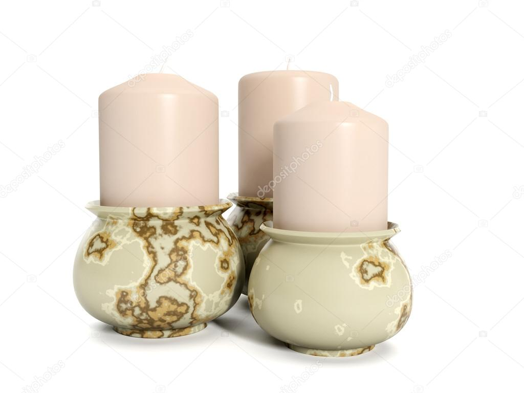 3d illustration: Holiday. Group candles — Stock Photo #12140082
