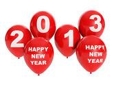 3d иллюстрация: праздники и события. группа из воздушных шаров, счастливым n — Стоковое фото