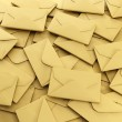 Stock Photo: 3d illustration: group of envelopes