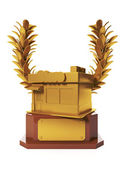 3d illustration: Prizes and awards. Award for the best shop, ach — Stock Photo