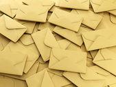 3d illustration: A group of envelopes — Stockfoto