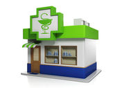 3d illustration: Medicine. Apothecary Building — Stockfoto
