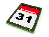 3d illustration, holidays and events. December 31 on the Tablet — Stock Photo