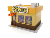 3d illustration: Building store. — Photo