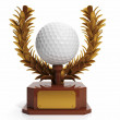 Award to the best player in golf. Golf ball in the form of cups, — Stock Photo