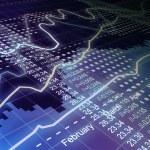 Business statistics and analytics, glowing sheet beznes statisti — Stock Photo