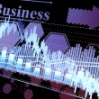 Stock Photo: Business statistics and analytics, glowing sheet beznes statisti