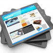 News from the internet, tablet PC and it fresh page navostey — Stock Photo