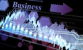 Business statistics and analytics, glowing sheet beznes statisti — Stock Photo