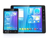 Create mobile apps for tablets and mobile phones. Tablet compute — Stock Photo