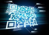 синий синий аннотация. когда новые технологии бар, абстрактный backg — Стоковое фото