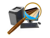 Internet technology. Search and purchase of building materials o — Stock Photo