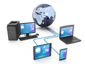 Internet technology. Group techniques of networked — Stock Photo